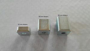 Låsbom. Distanser 20 mm, 50 mm, 65 mm. med extra text på bild