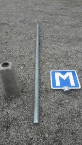 M skylt 3 i delar