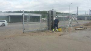 Områdesskydd. montering, grind och stängsel R