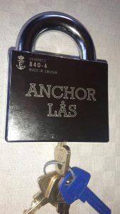 Anchor 880-4 med monterad Assa d12 låscylinder