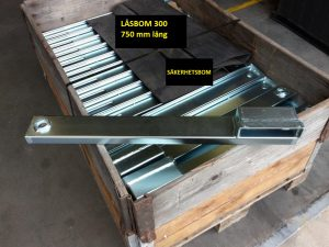 Låsbom LB 300. 750 mm på pall. 1