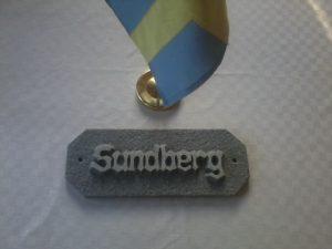 Granit skylt Sundberg