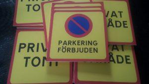 Parkering förbjuden 300 ggr 300 mm