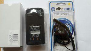 Öronmussla och batteri till en Albecom Profighter