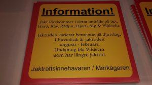 Infomation om jakt 1