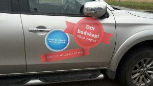 Magnetskylt bil