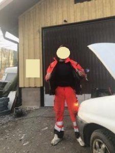 Skyddsväst bilbärgare 1