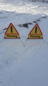 Flyttbara skyltar Flisning